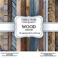 Набор бумаги для скрапбукинга Фабрика декора Wood natural, 30х30см, фото 1
