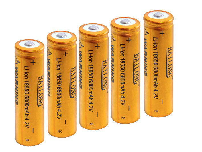 5шт Аккумулятор Li-Ion Bailong 18650 8800 mAh 4.2V Gold