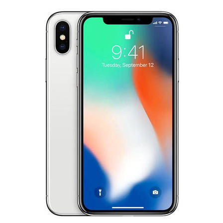 Apple iPhone X 256GB Silver (MQAG2), фото 2