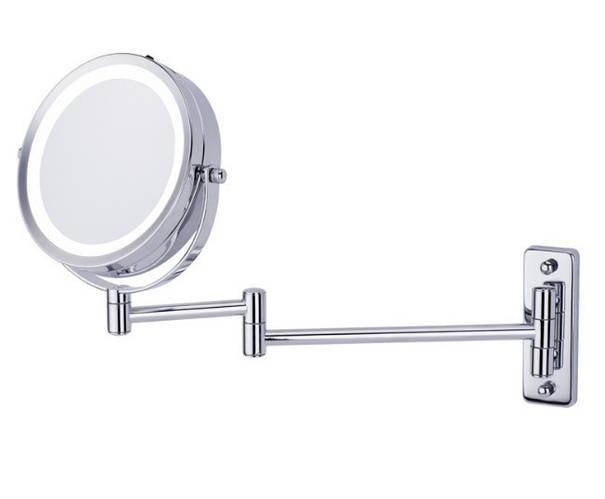 Настенное косметическое увеличительное зеркало для ванной с подсветкой