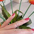 Фаланговое кольцо серебро, фото 4