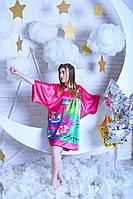 Атласное женское кимоно, фото 1