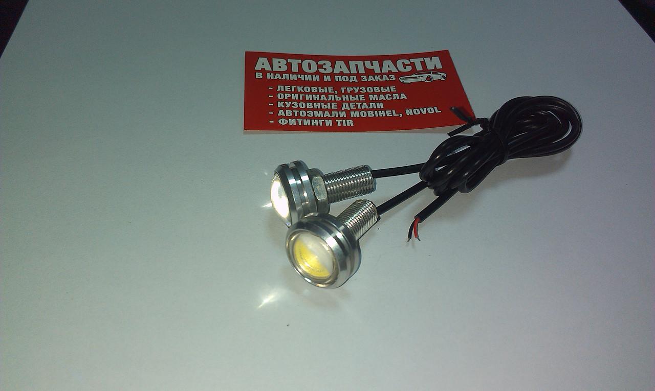 Светодиоды с линзой (Врезной) серый 12V