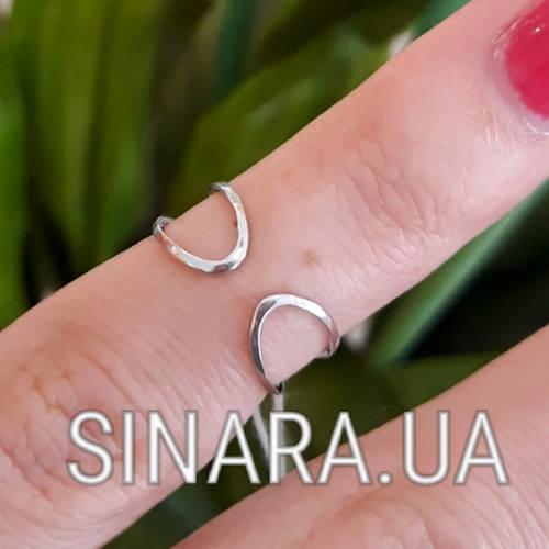 Фаланговое кольцо серебро