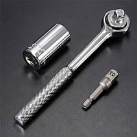 Універсальний торцевий ключ для відкручування та закручування, з ручкою, гайковий ключ