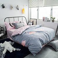 Комплект постельного белья Pink Flamingo (двуспальный-евро)
