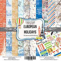 Набор бумаги для скрапбукинга Фабрика декора European holidays, 30х30см