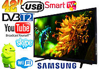 "Телевизор 42"" Samsung SmartTV LED! FullHD, IPTV, Android, T2, WIFI, USB"