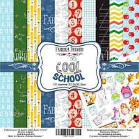 Набор бумаги для скрапбукинга Фабрика декора Cool school, 30х30см, фото 1