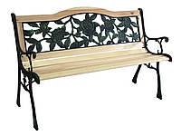 Садовая скамейка Роза  дерево + чугун