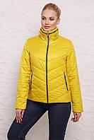 Женская Короткая куртка М-095 горчичная (42-50 р)
