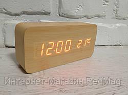 Часы настольные деревянные электронные VST-862