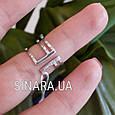 Стильное кольцо на фалангу с камнями, фото 4