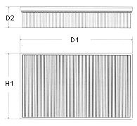PR 1512-0803 =Mfilter K-187 =  AP 038  Ф-р возд PROFIT