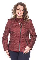 Стильная демисезонная куртка-батал из качественной ткани, размеры 50,52,54,56,58,60, четыре цвета, Лолита