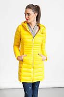 Куртка жёлтая женская удлиненная, фото 1