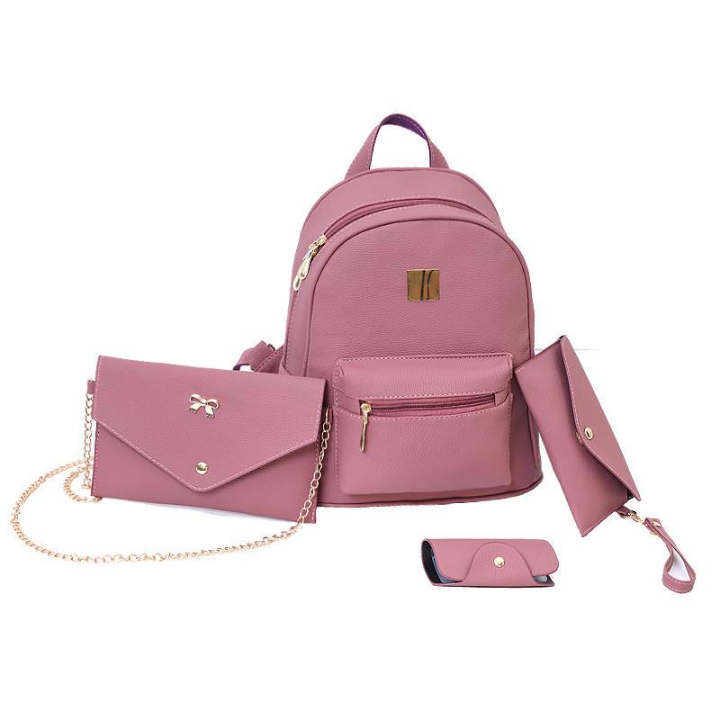 6e6aab56c438 Женский рюкзак пурпурный набор 4в1 из экокожи, цена 610 грн., купить ...