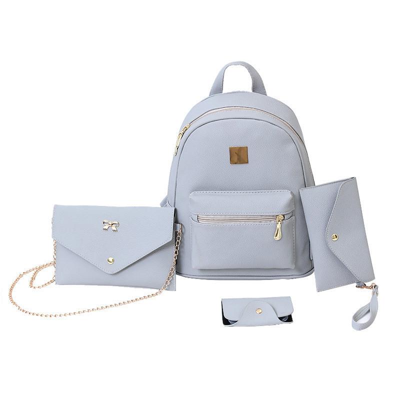 8f7fb589eceb Женский рюкзак серый набор 4в1 из экокожи, цена 549,90 грн., купить ...