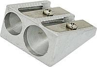 Точилка металлическая двойная, длина лезвия 2.3см