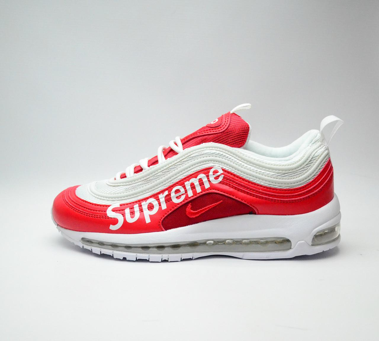 0a65d5711d2d Мужские кроссовки весна осень Nike Air Max 97 x Supreme (найк аир макс)