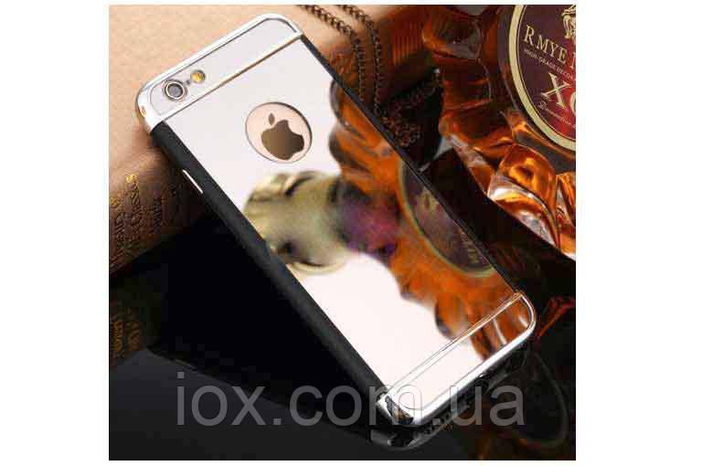 Дзеркальний бампер-накладка для Apple iPhone 6\6S Сріблястий металік