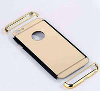 Зеркальный бампер-накладка для Apple iPhone 6\6S Золотой, фото 1
