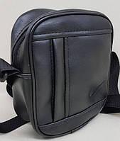 Мужская сумка кожзам НАЙК 01 black мужская сумка купить не дорого Одесса 7 км