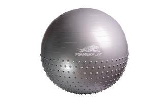 Мяч для фитнеса полумассажный (фитбол) PowerPlay 4003 d-65см +  насос