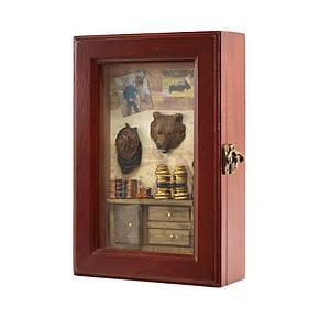 Ключница  настенная Медведь деревянная 58206 E, фото 2