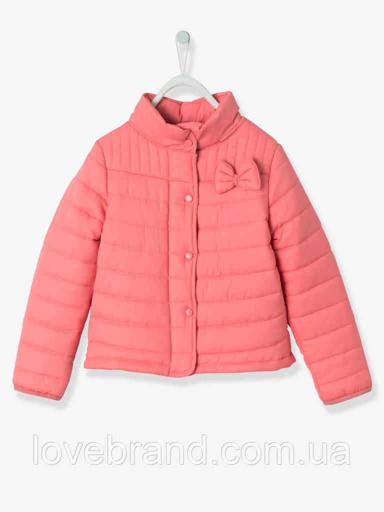 Ультралегкая демисезонная курточка Vertbaudet (Франция) для девочки в розовом цвете