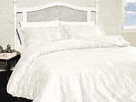 Постельное белье First Choice евро, сатин 2040_Carmina Beyaz