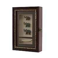 """Ключница  настенная, деревянная - """"Три Слона"""", 60029 B"""