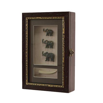 "Ключница  настенная, деревянная - ""Три Слона"", 60029 B, фото 2"