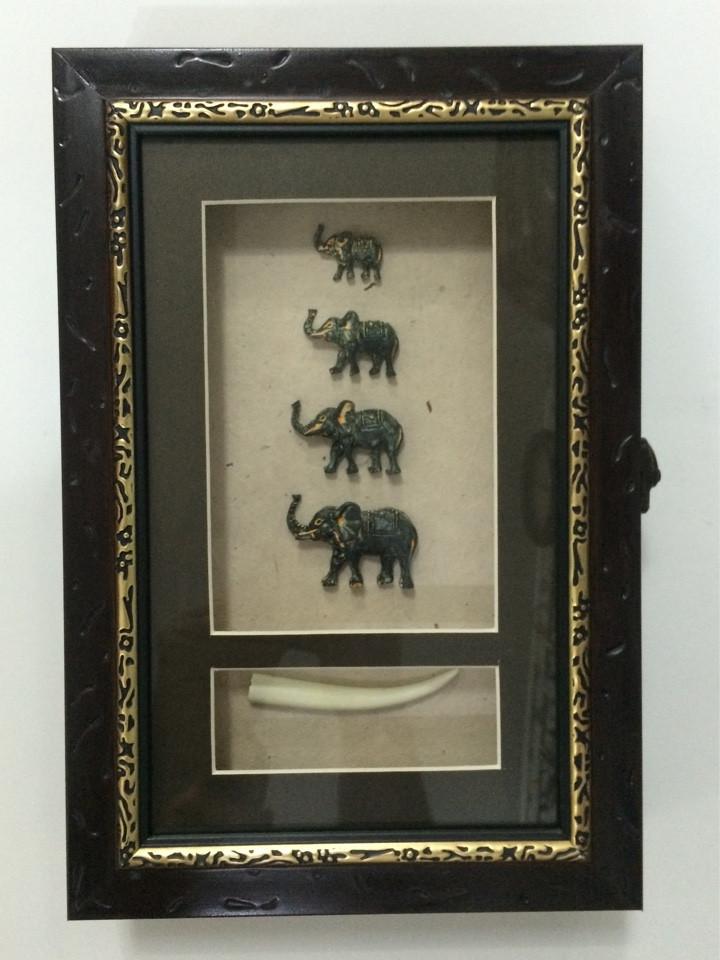 """Ключница настенная деревянная """"Слоны семейство"""", 60029 A"""