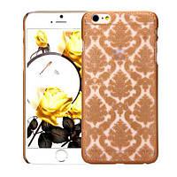 Золотой пластиковый ажурный чехол для Iphone 6/6S, фото 1