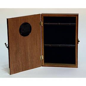 """Ключница  настенная, деревянная -""""Кухня с часами"""", фото 2"""