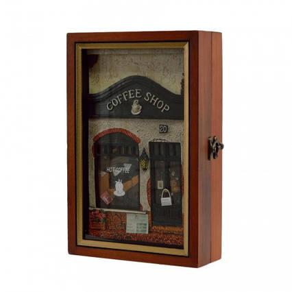 "Ключница  настенная, деревянная  ""Coffee shop"", 59999-60004 D, фото 2"