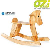 Деревянная лошадка-качалка (коричневая)