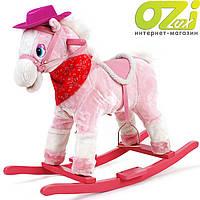 Лошадка-качалка TEDDY (розовая)