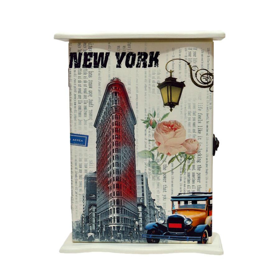 "Ключница  настенная, деревянная ""New York """