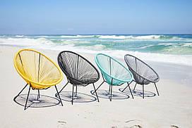 Стул кресло круглое для сада из стали