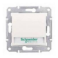 Кнопка выключатель с полем для надписи с подсветкой Sedna Schneider Слоновая кость, SDN1600323