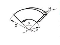 Накладка тормозная секторная УВ3132-00-009/801 (260х220х4х60)
