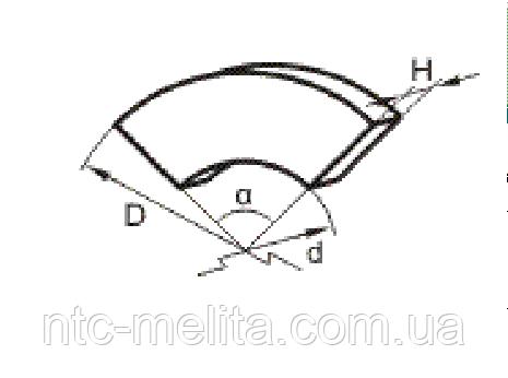 Накладка тормозная секторная УВ3141-00-009/801В (450х390х4х60)