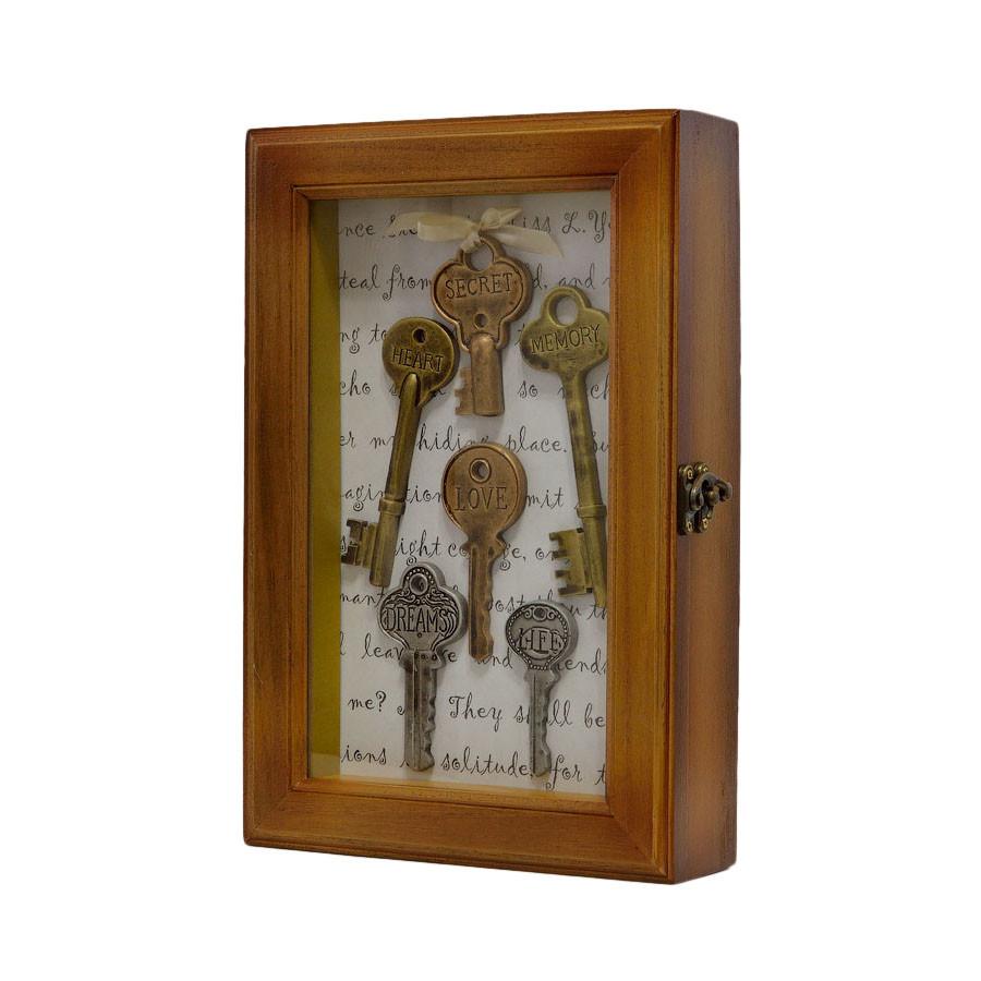 """Ключница  настенная, деревянная -"""" Ключи пожелания """""""