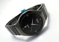 Стильные часы Jubile - unisex, цвет циферблата черный, графитовый цвет, черные
