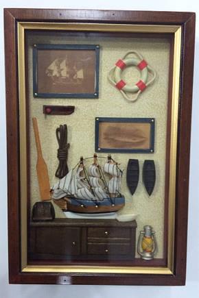 """Ключниця настінна, дерев'яна - """" Морська """", фото 2"""