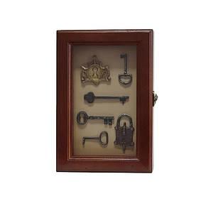 """Ключница  настенная, деревянная -"""" Ключи под стеклом """", фото 2"""