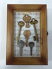 "Ключница  настенная, деревянная -"" Ключи пожелания "", фото 3"