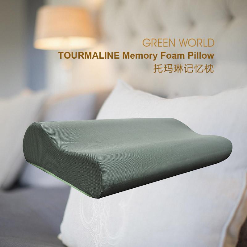 Турмалиновая подушка с эффектом памяти!Сделает ваш сон крепким и здоровым!